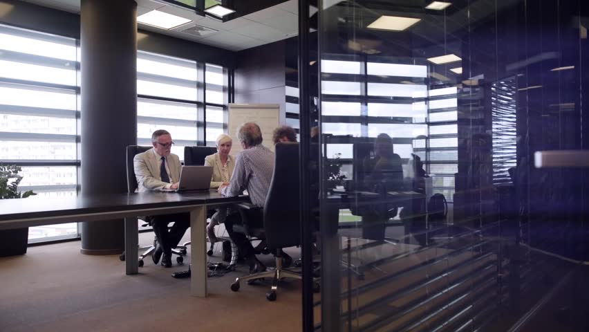 Business meeting on modern office