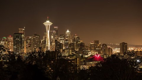 Seattle Night to Day Sunrise Time Lapse