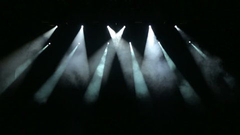 Free stage with lights. Stage lighting background. Concert light.