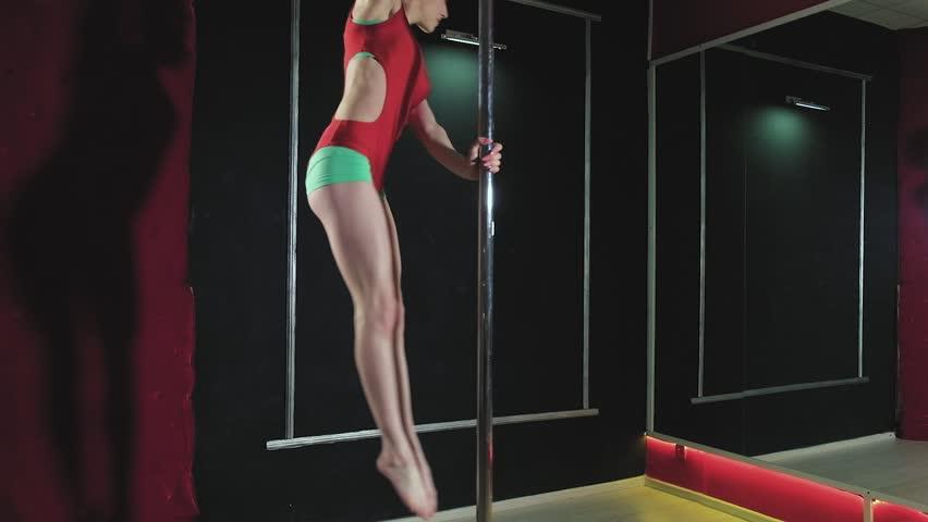 Erotic pole dance video