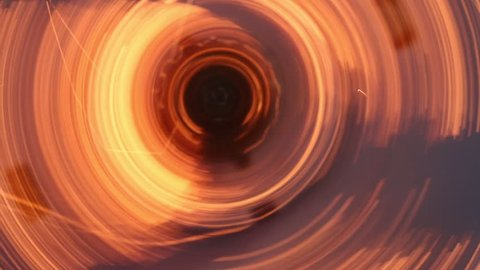 Centrifugal Spinning Sparks 2 MAC - Closeup of a machine that is emitting centrifugal spinning sparks