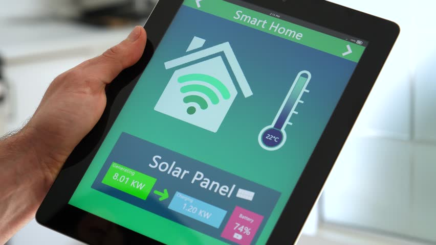 Smart House Phone smart house. remote home control system on a digital tablet or