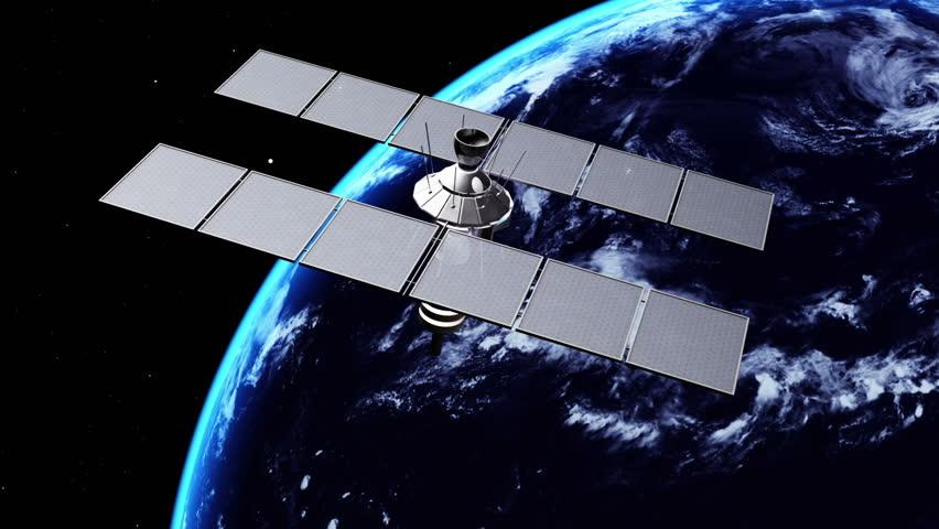 Manmade Satellite Stock Footage Video Shutterstock - Satellite footage