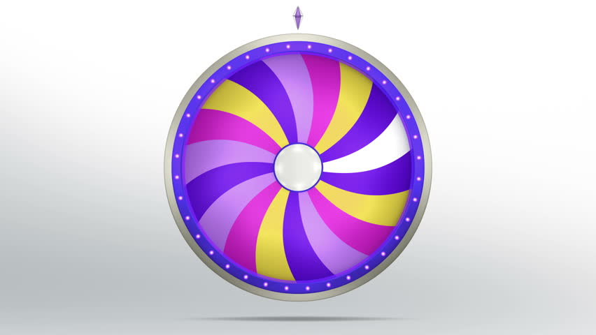 3D Illustration of  lucky spin represent the wheel of fortune concept. Three dimensional wheel graphic for use in game animation. include alpha mask. | Shutterstock HD Video #26330885