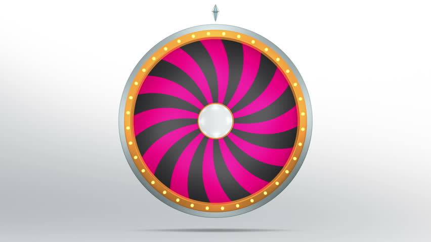3D Illustration of  lucky spin represent the wheel of fortune concept. Three dimensional wheel graphic for use in game animation. include alpha mask.   Shutterstock HD Video #26330915