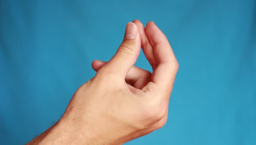 Snapping fingers man's hand | Shutterstock HD Video #26343335