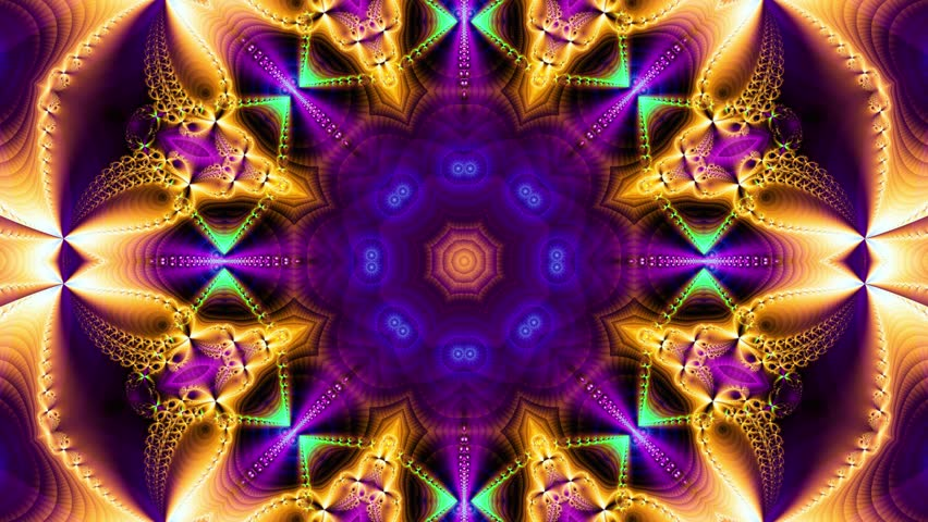 Red kaleidoscope sequence patterns.Abstract multicolored motion graphics background. Or for yoga, clubs, shows, mandala, fractal animation. Seamless loop.