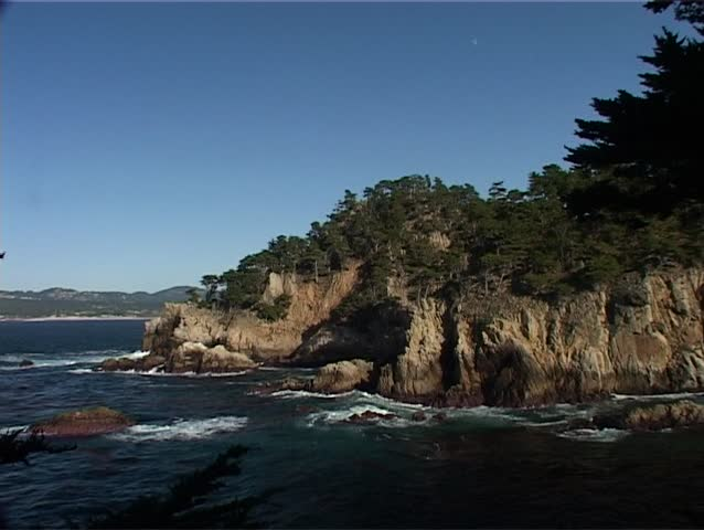 Shot of the dramatic Californian coastline at the Point Lobos State Park. The park is also a marine protected area and this protection ensures sightings of Sea Lions, Otters, Harbor Seals and Whales.