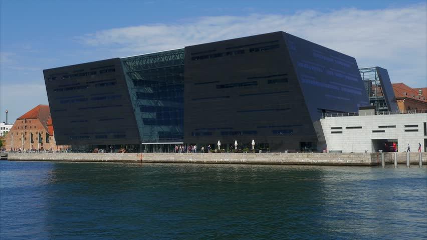 The Black Diamond, modern addition to the Royal Danish Library Copenhagen, Denmark, Scandinavia, Europe, 20. May 2016