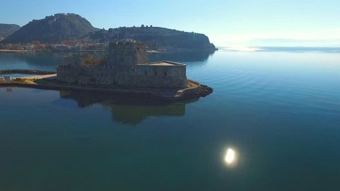 The Greek fortress on the island, near the town of Nafplio.