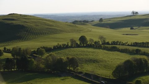 Irish landscape on the hills in Co. Meath/ Irish landscape/ Hills at loughcrew in Co. Meath - Ireland
