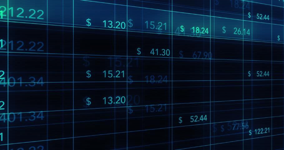 Digital computer financial data flickering on online spreadsheets | Shutterstock HD Video #26597345