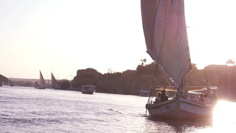 Felucca Sailing Down the Nile