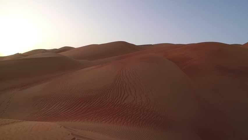 dunes of Liwa desert at sunrise #26609975