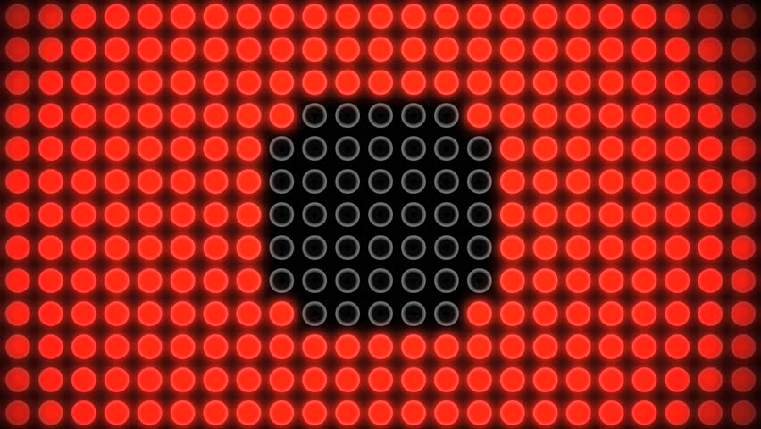 Abstract CGI motion graphics and animated background of a circle design flashing made of tiny dots | Shutterstock HD Video #2661785