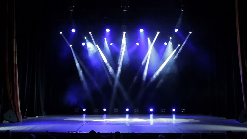 Stock Video Of Colorful Bright Stage Lights In A