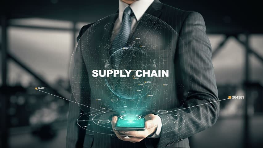 Businessman with Supply Chain hologram concept | Shutterstock HD Video #26638735