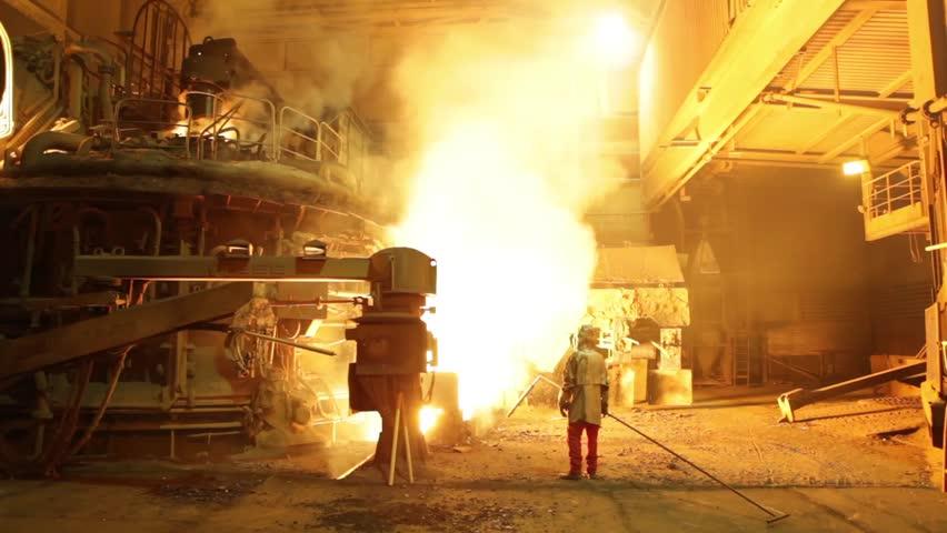Header of steelworker