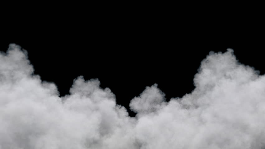 Clouds moving towards the camera / fly through clouds. Separated on pure black background, contains alpha channel.