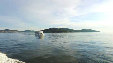 View of rural Princes Island of Burgazada. Istanbul, Turkey. 4K.