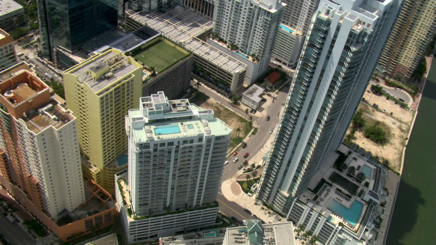 Looking down onto downtown Miami. Shot in 2007. | Shutterstock HD Video #26704705