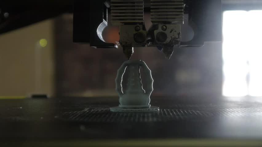 3D printing - Three dimensional printer - 3D plastic printer | Shutterstock HD Video #26708479