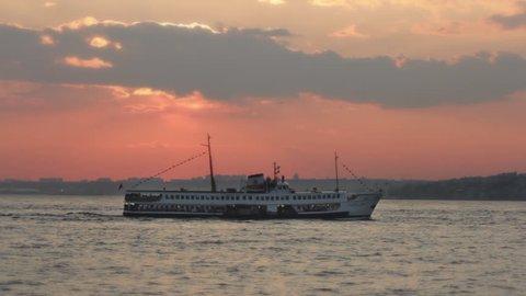 Passenger ferryboat passing