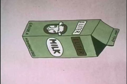 1970s: The Metric System is used on a milk carton label and at a gas pump, in a cartoon, in 1973.