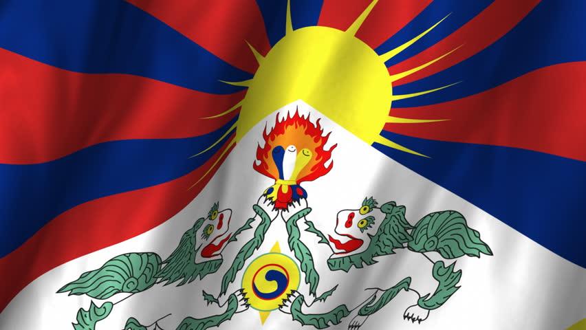 Tibet Flag Loop 3 Stock Video Hd Royalty Free 1372117 Shutterstock