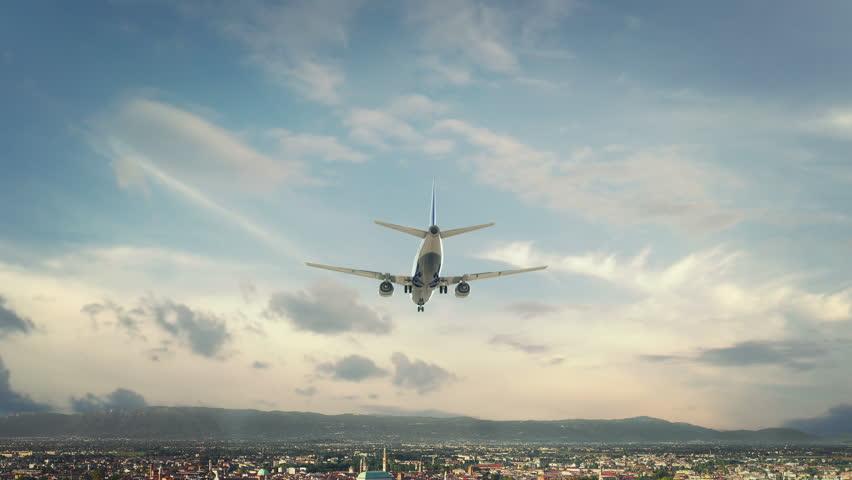 Airplane Landing Vicenza Italy