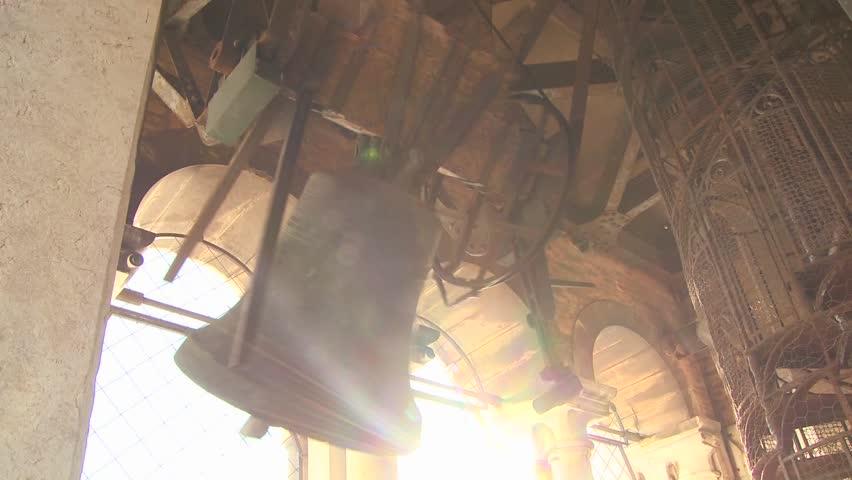 VENICE, ITALY-CIRCA 2011-Church bells ring out across Venice.