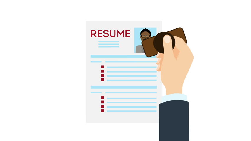 Job interview and recruitment business concept