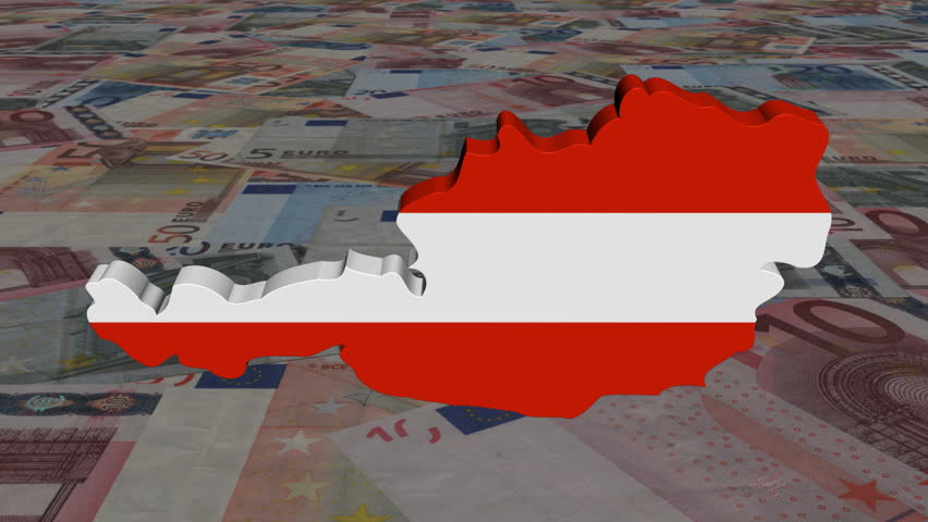 Slovenia Map Flag With Scrolling Euros Animation Stock Footage - Slovenia map hd