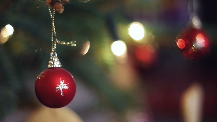 Close Up Of Christmas Ornaments Hanging Stock Footage Video 100 Royalty Free 2687705 Shutterstock