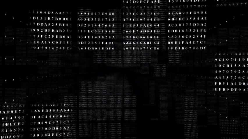Abstract digital intro.BLACK.Flying fast through data number screen boxes.Technological background. Type2 | Shutterstock HD Video #26891005