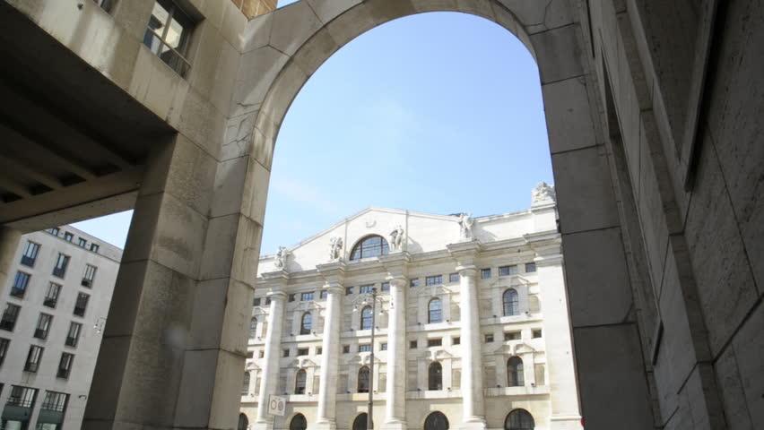 e9557b9c7c Italy - Milan - Piazza Affari - Borsa - The Borsa Italiana in Business  Square. Based in Milan, is Italy's main stock exchange