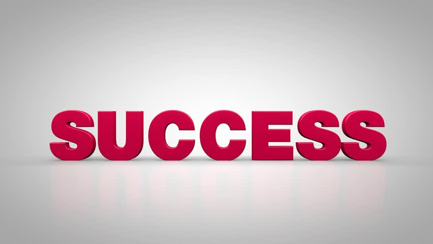 Success concept 3d animation | Shutterstock HD Video #26998912