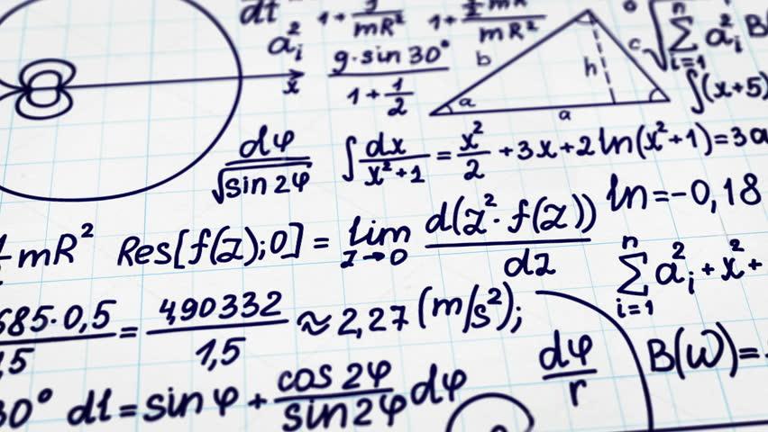 math physics formulas black and white  computer generated