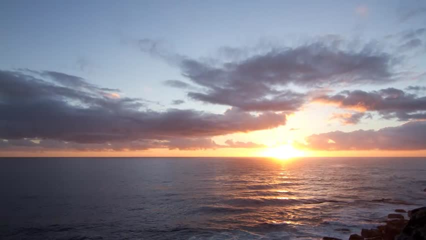 Magnificent Ocean Sunrise Time Lapse
