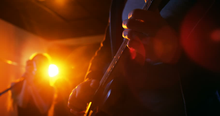 Girl looking game smartphone on the internet in the corridor band performing in recording studio 4k stock footage clip sciox Image collections