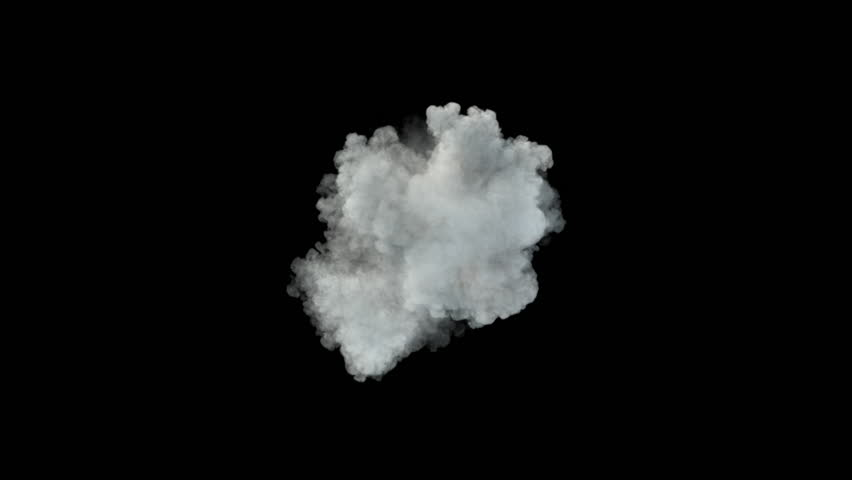 Middle size smoke puff / dust puff (with alpha channel). Separated on pure black background. | Shutterstock HD Video #27068035