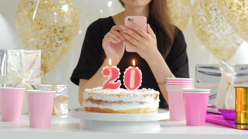 Festive Candles Happy Birthday On A Cake 1080p Fullhd