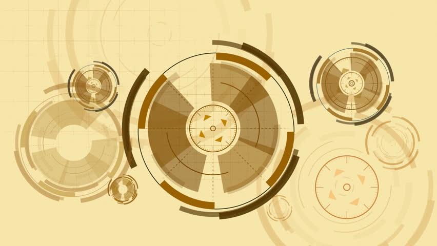abstract  vintage circular elements seamless loop, FullHD