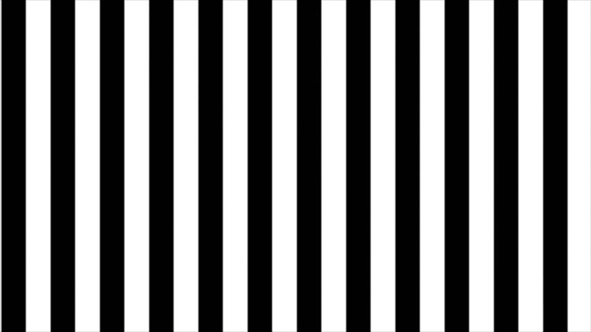 Abstract CGI motion graphics and animated background with black and white stripes | Shutterstock HD Video #2709695