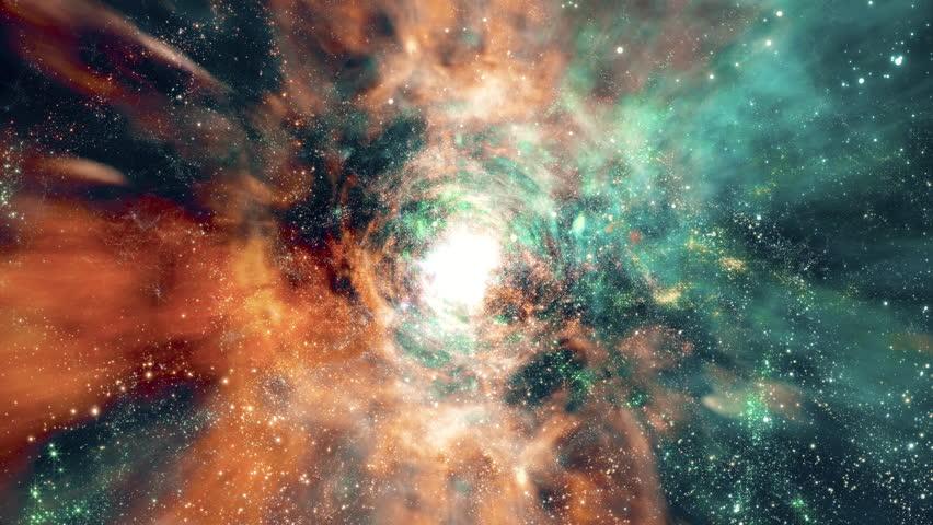 Space 2240: Flying through star fields and galaxies in deep space (Loop).   Shutterstock HD Video #27123985