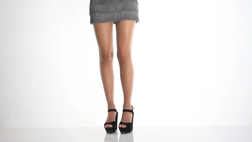 beautiful legs dancing in heels