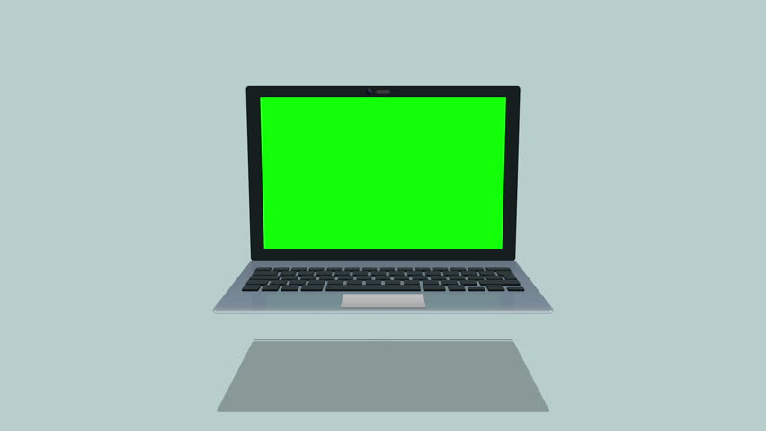 3d flat design laptop rotation icon loop animation for communication and technology info-graphics | Shutterstock HD Video #27176848