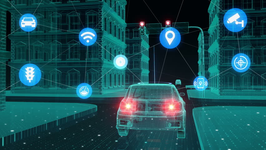 IoT car connect traffic information control system, Internet of things concept. | Shutterstock HD Video #27269065