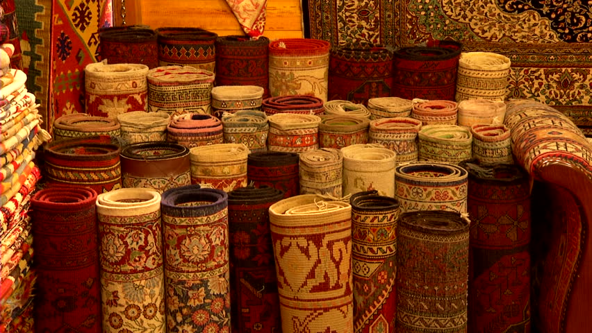 Turkish Carpets In A Shop Stock Footage Video 100 Royalty Free 2732765