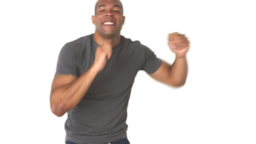 Young man in jeans and t-shirt dancing | Shutterstock HD Video #2732945
